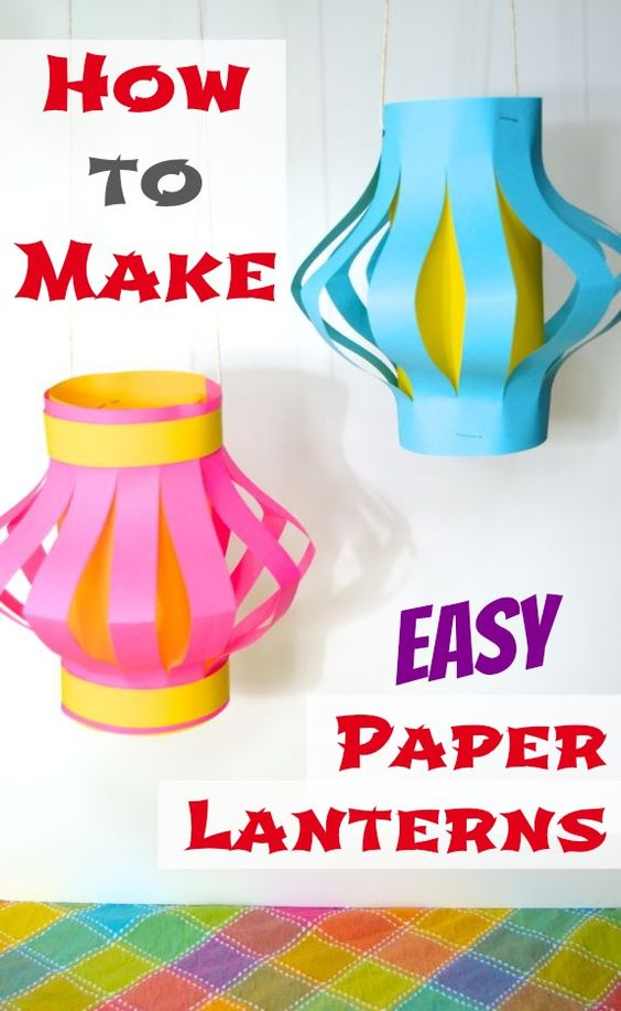 These Japanese paper lanterns are a perfect kids craft!