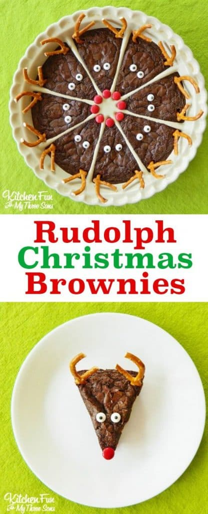 LOVE these reindeer brownies! The best Christmas treats are the ones that are EASY to make right!