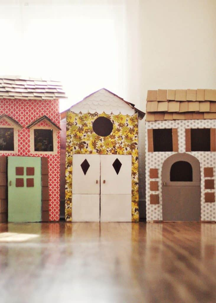 A Whole Street of Cardboard Playhouses