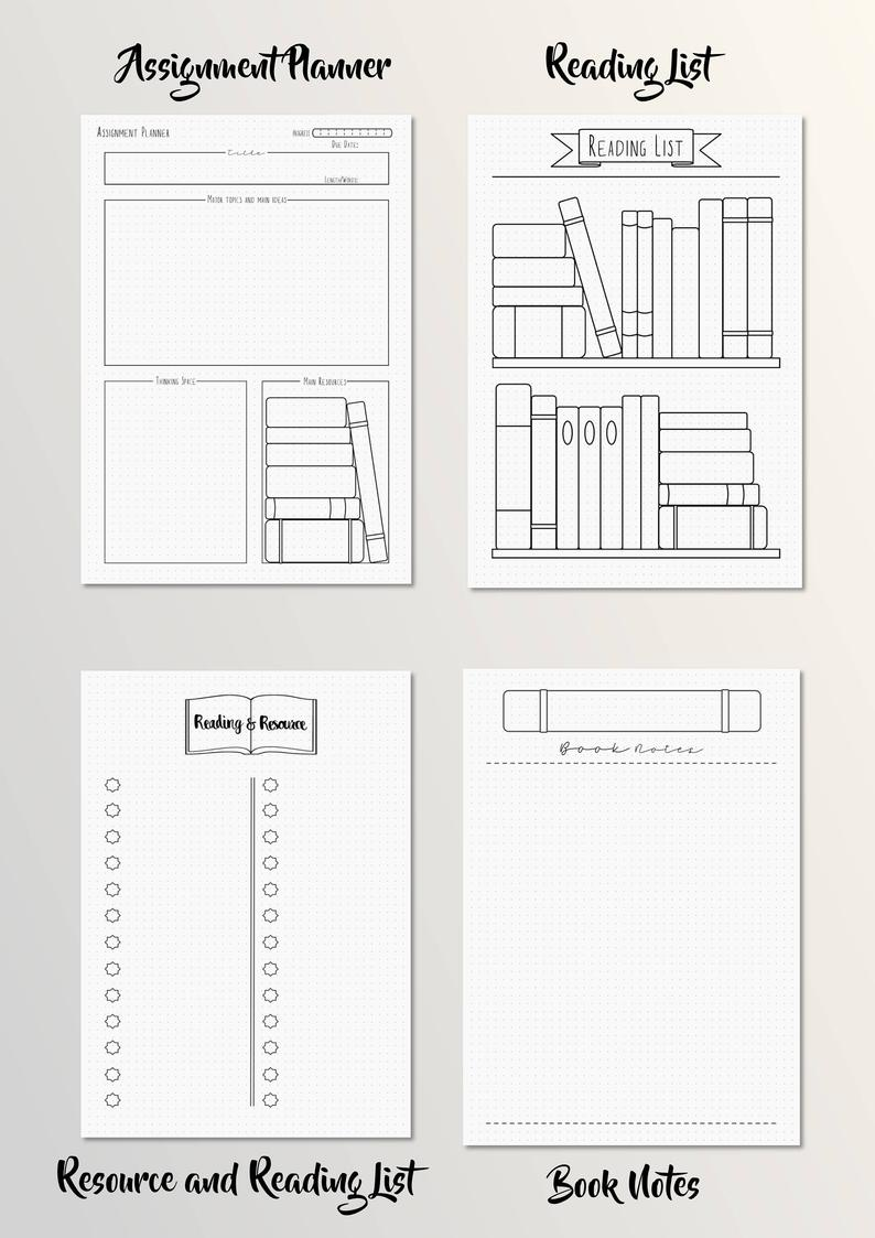 Academic Bullet Journal School Planner Set