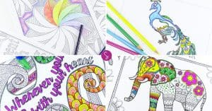 Amazing Adult Coloring Books: Free Printable Pages to Try Right Now!