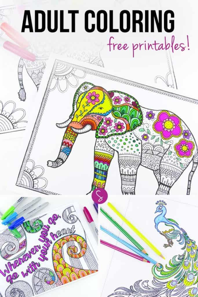 If you find yourself colouring in your kid's books long after they've lost interest and gone to play with something else then keep reading because this is going to be right up your alley. Today's collection is all about Adult Coloring Books - Free printable pages to be exact!