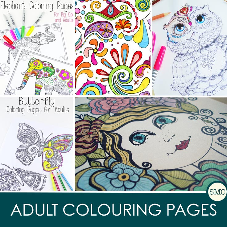 These adult colouring pages are beautiful - and the perfect way to relax!