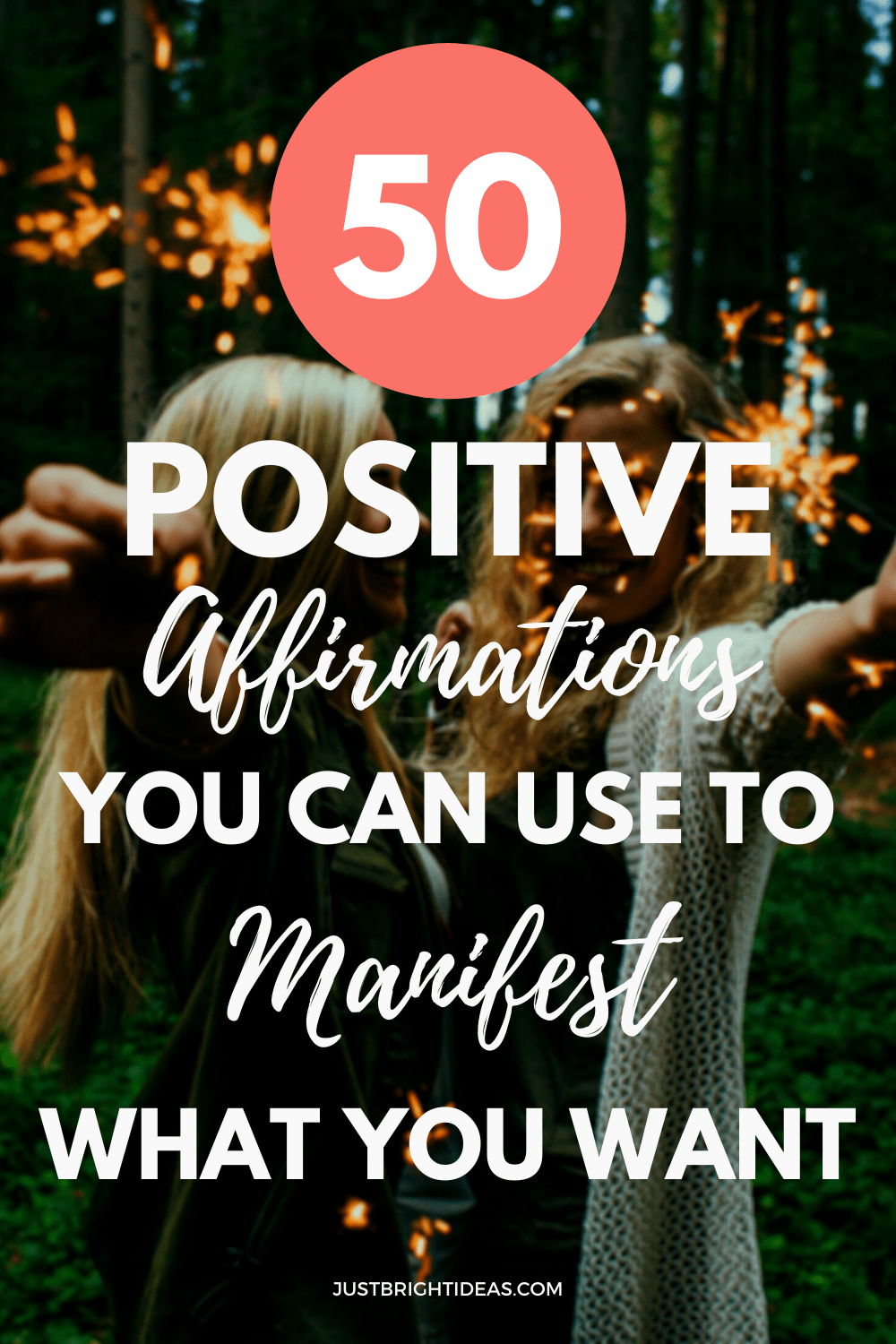 Get your free printable with 50 powerful affirmations you can use in your manifesting rituals - and find out how to write your own affirmations too