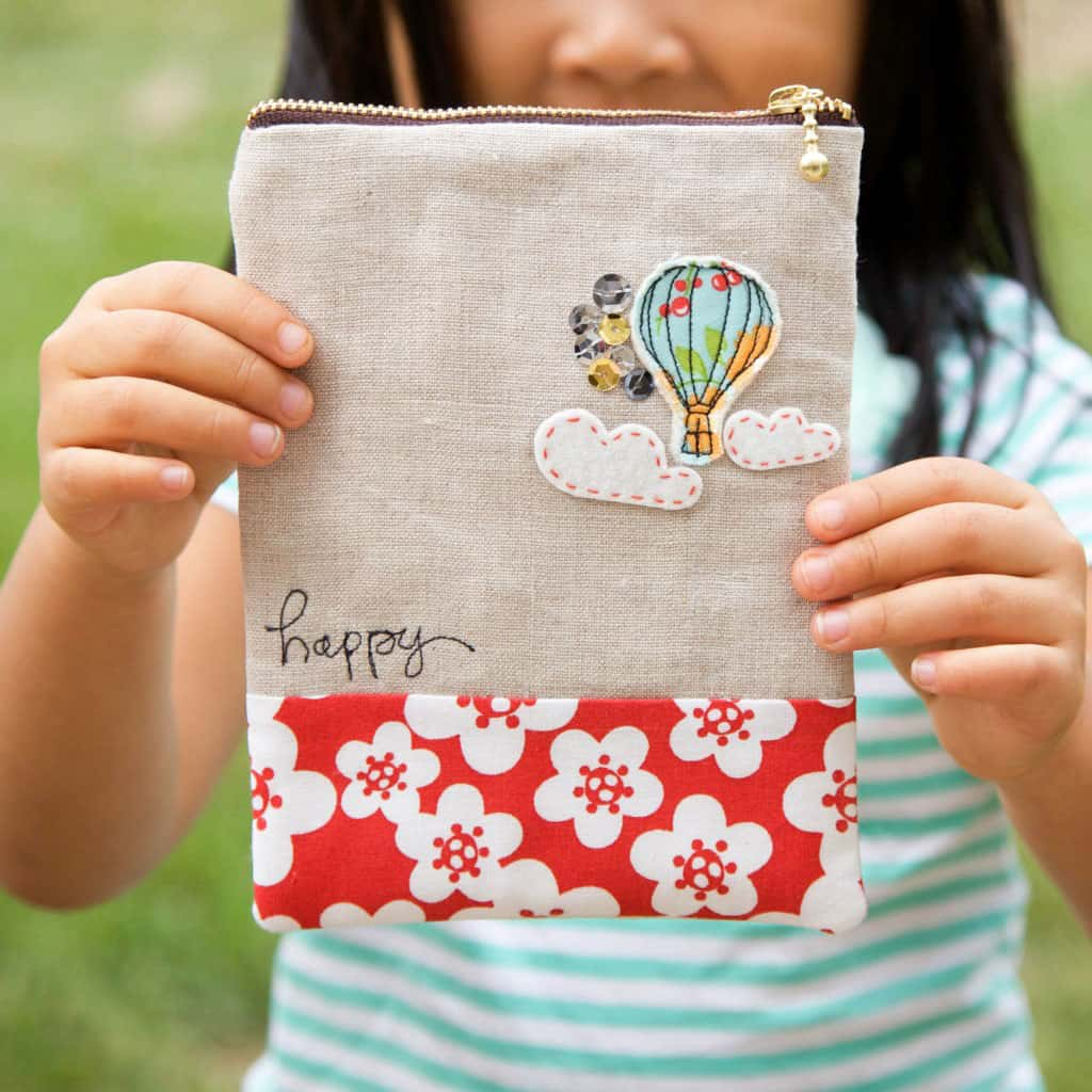 Air Balloon Zipper Pouch