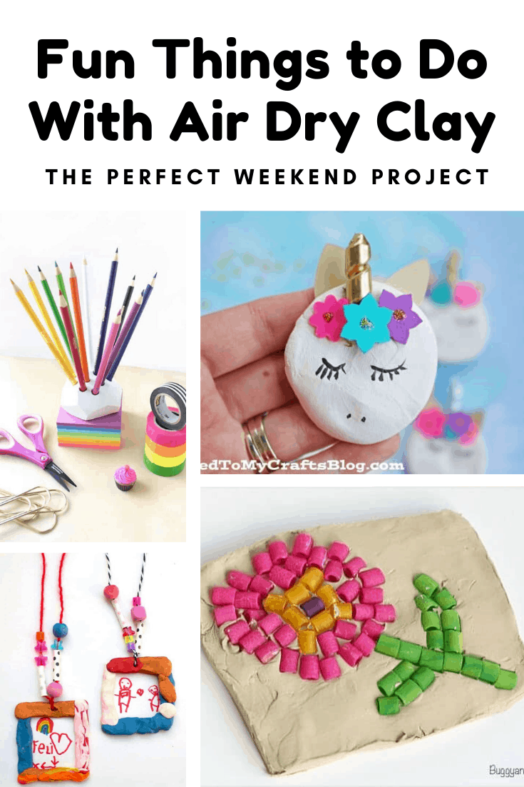 Need a fun craft to do with the kids? Click through to see these fun air dry clay projects - something for kids of all ages to make! #kidcrafts