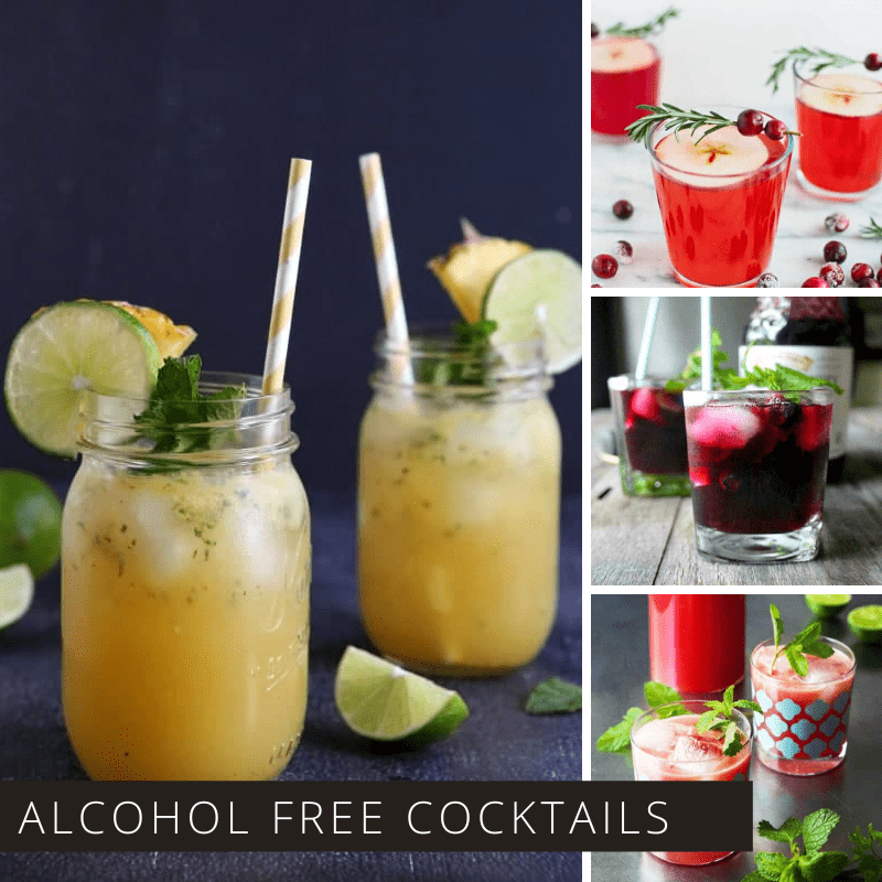 These alcohol free cocktails are perfect for everything from baby showers and graduation celebrations.