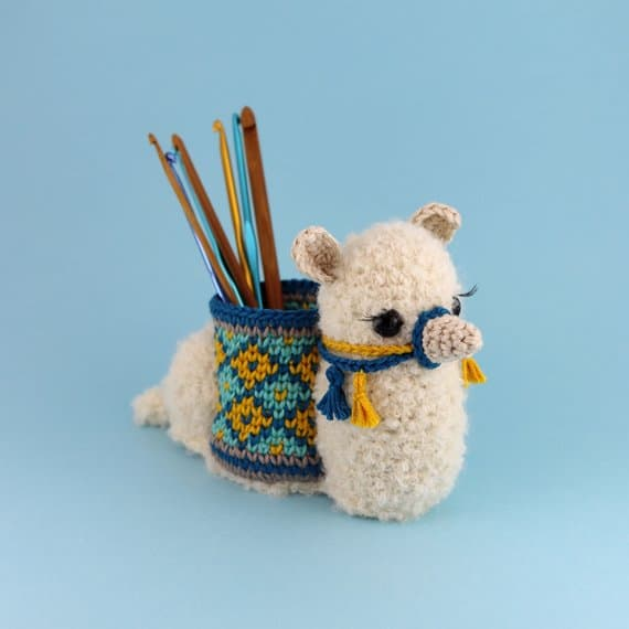 Amagurumi Llama Crochet Hook Holder