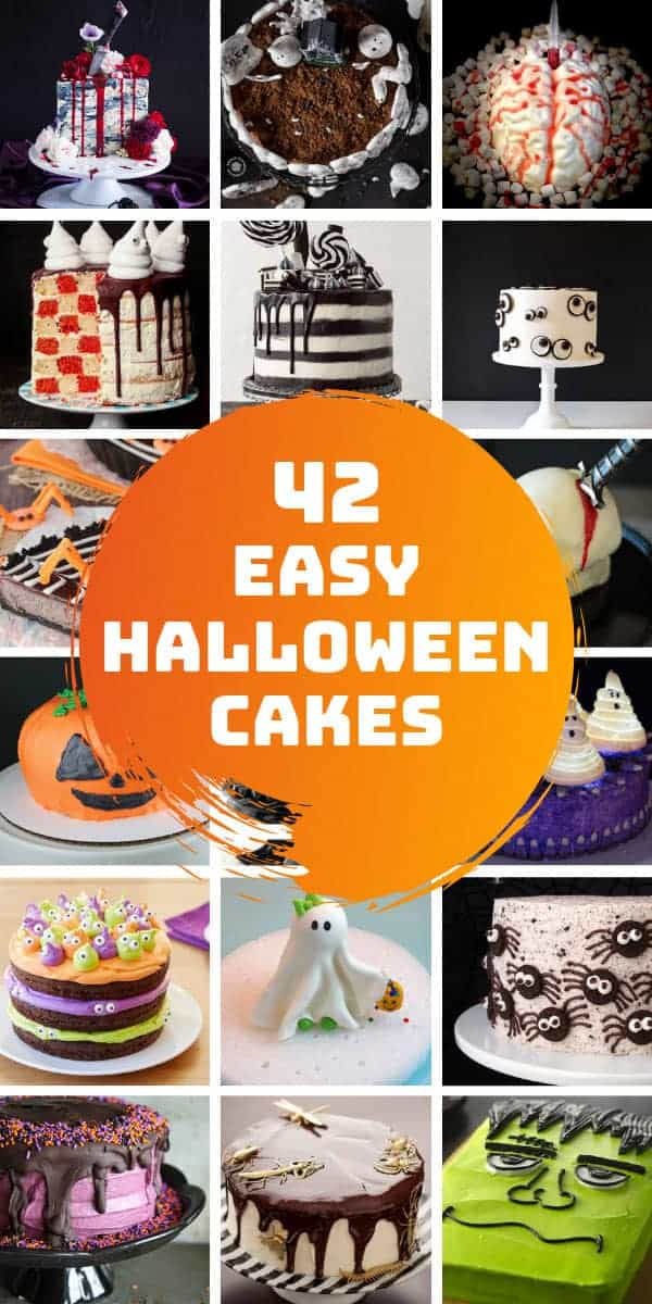 Oh my! How amazing are these Halloween cakes? Such fun ideas for a party for kids and grownups!!