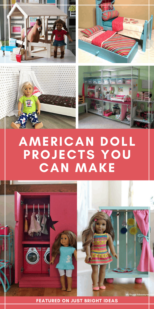 Wow these DIY 18 inch doll furniture projects are amazing!