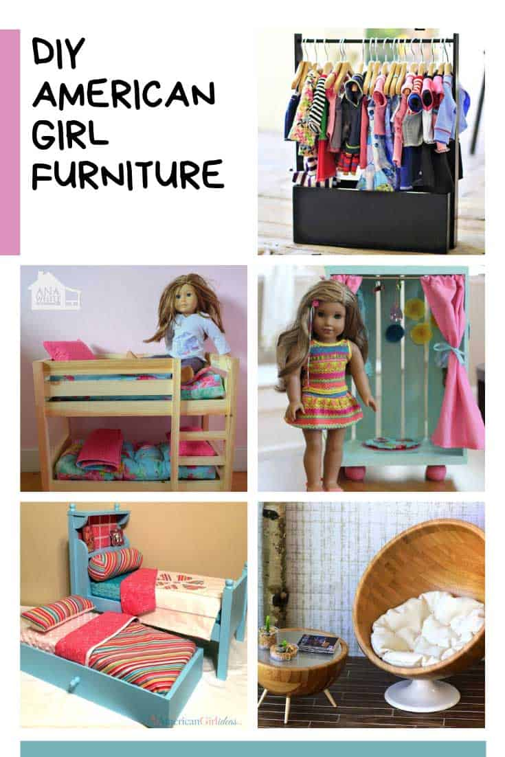 Loving this American Girl furniture! So many cute projects to DIY - and a doll house too!
