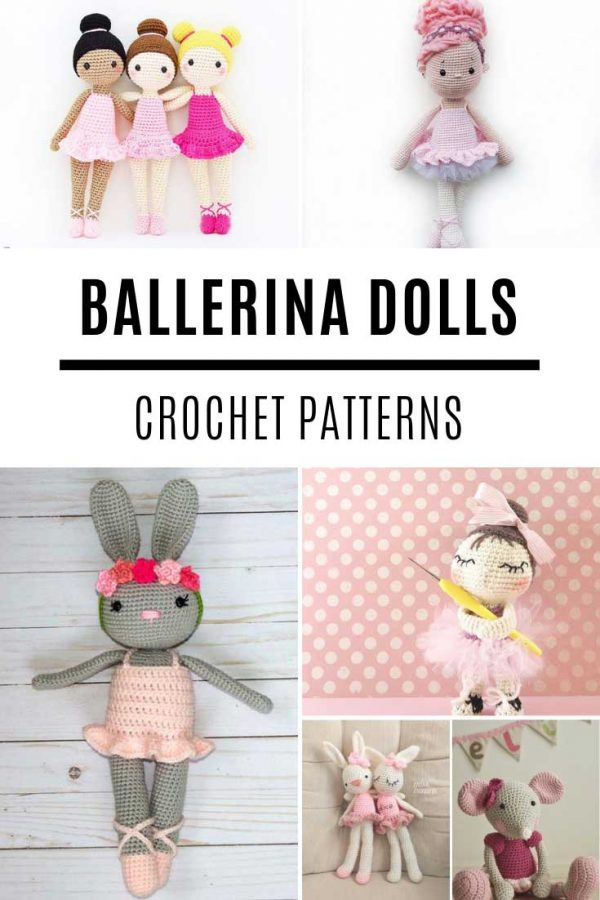 These amigurumi ballerina dolls are so SWEET and the crochet patterns are easy to follow!