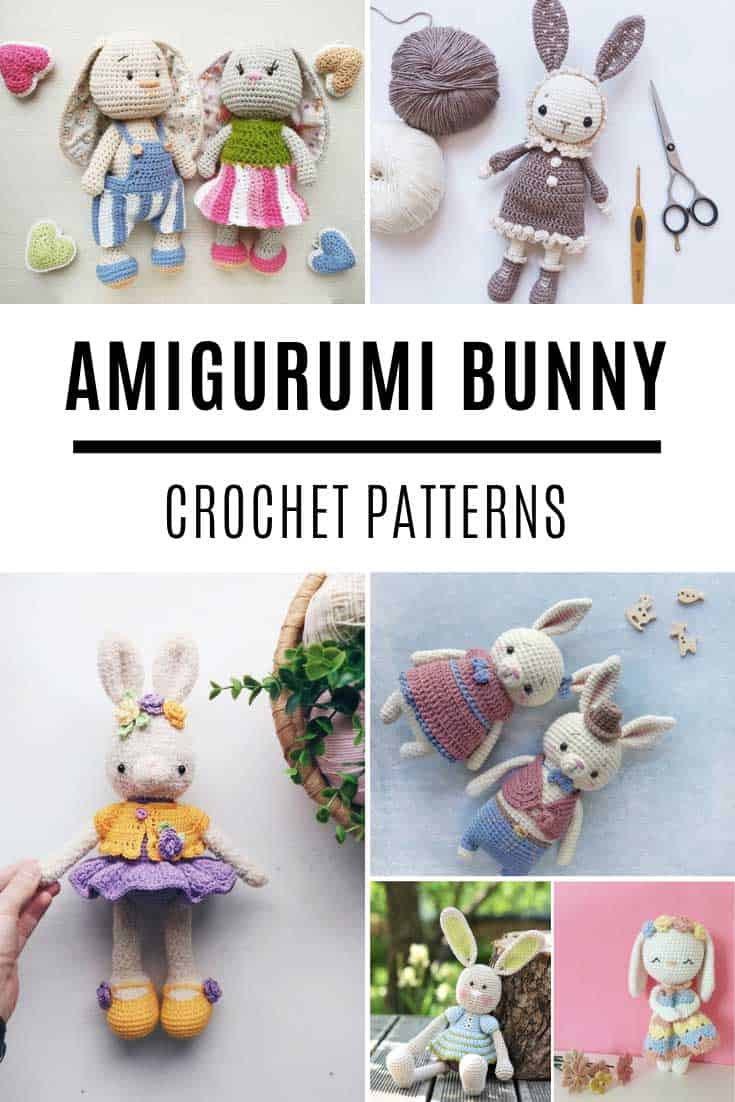 These amigurumi bunny dolls are the SWEETEST! Just look at their clothes!