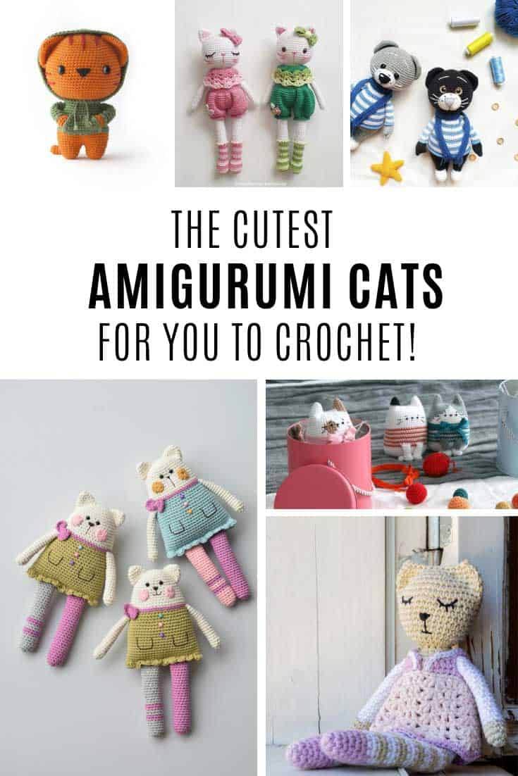 These amigurumi cat patterns are so stinking cute!