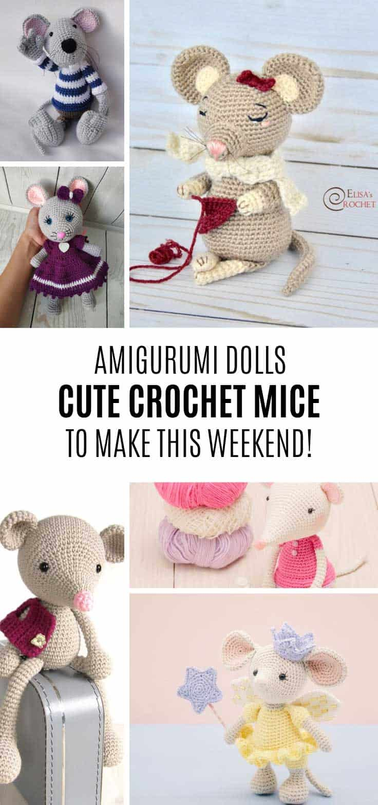 How cute are these amigurumi mouse dolls!
