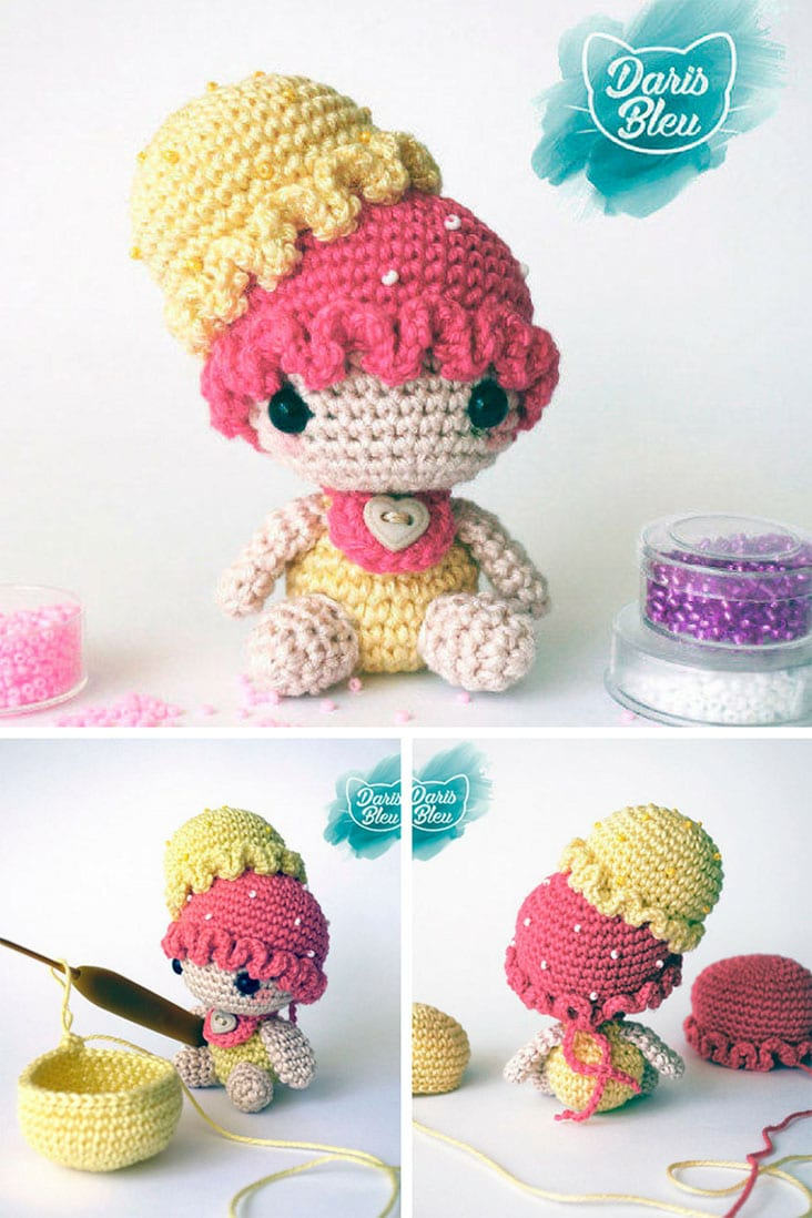 Amigurumi Crochet ice Cream Girl