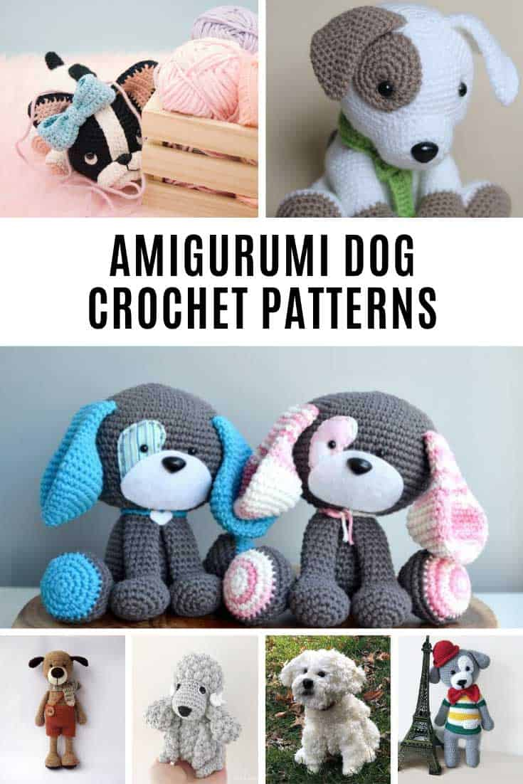 These amigurumi dog crochet patterns are the SWEETEST!