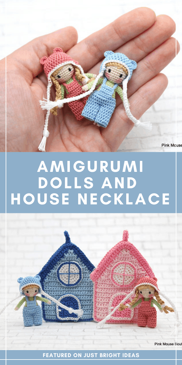 Oh my goodness - these little pocket sized playmates in their necklace house might just be the cutest things I've ever seen! Click through to find out more about this crochet pattern