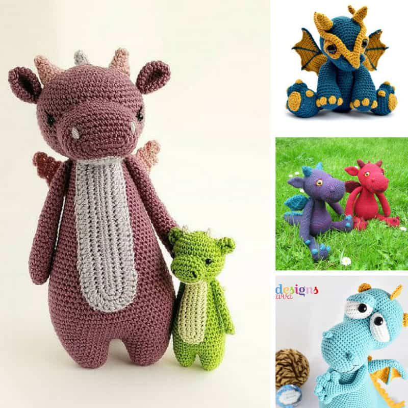 Tiny dragon amigurumi pattern - Amigurumi Today | 800x800