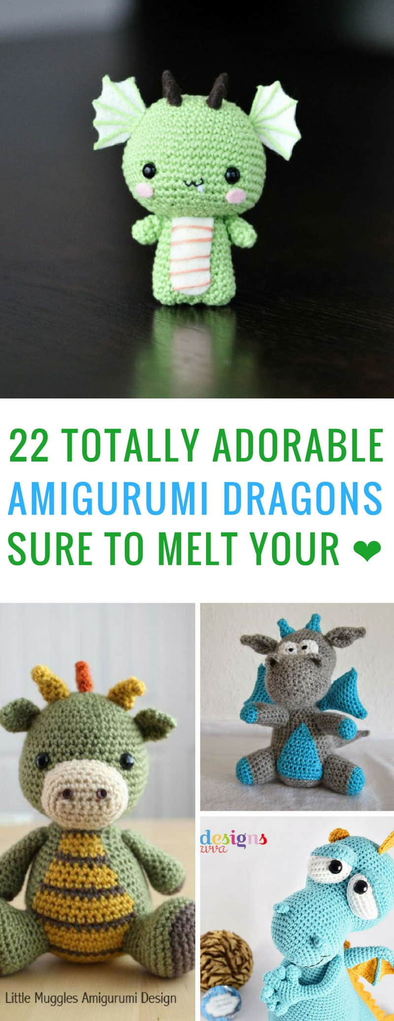 These amigurmi dragons are so cute! I can't wait to make some of them! Thanks for sharing!
