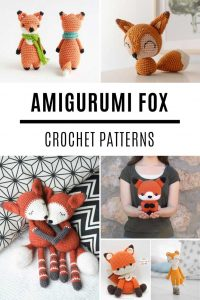 How SWEET are these amigurumi fox dolls? So many crochet patterns to try!