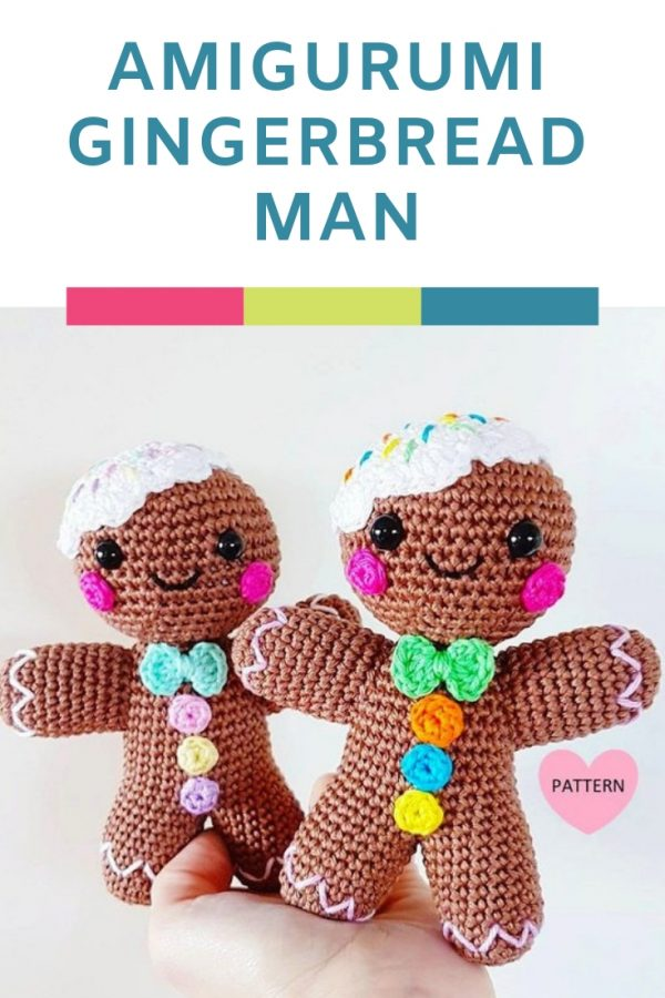 How CUTE is this amigurumi gingerbread man? He's the perfect crochet pattern for Christmas projects!