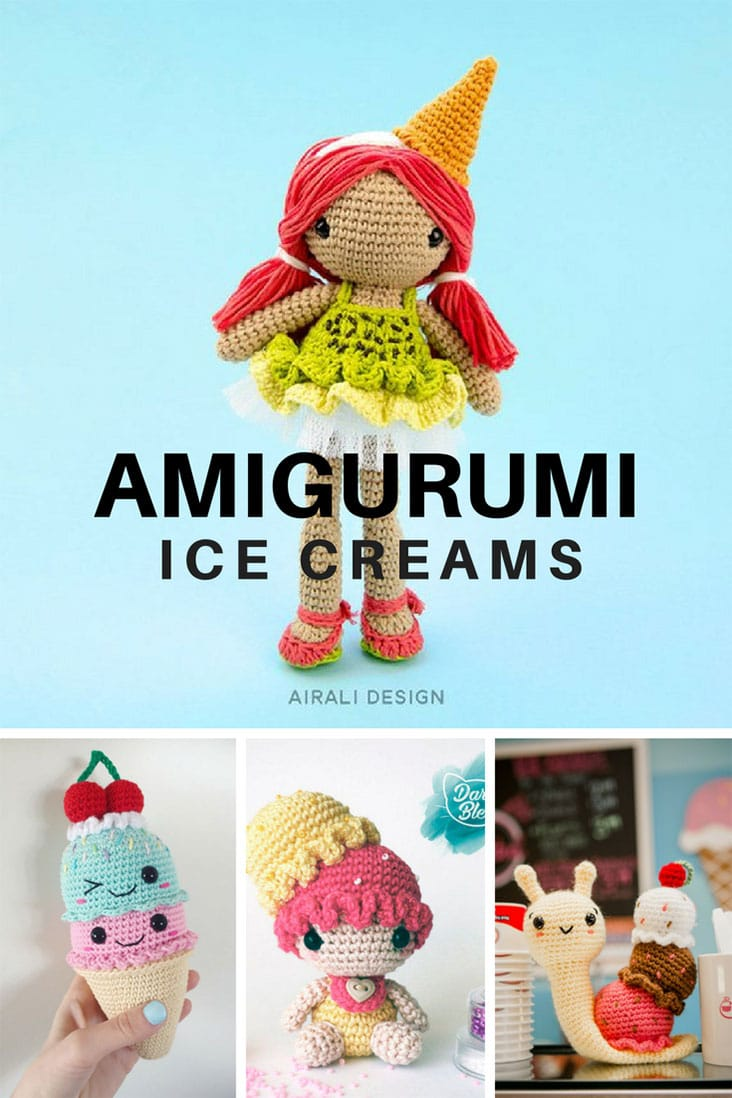 Amigurumi Ice Creams Crochet Patterns