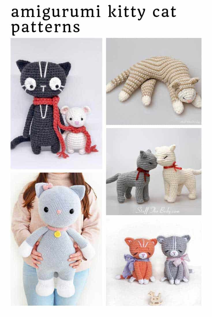 These might be the CUTEST amigurumi kitty cat patterns you'll ever see!