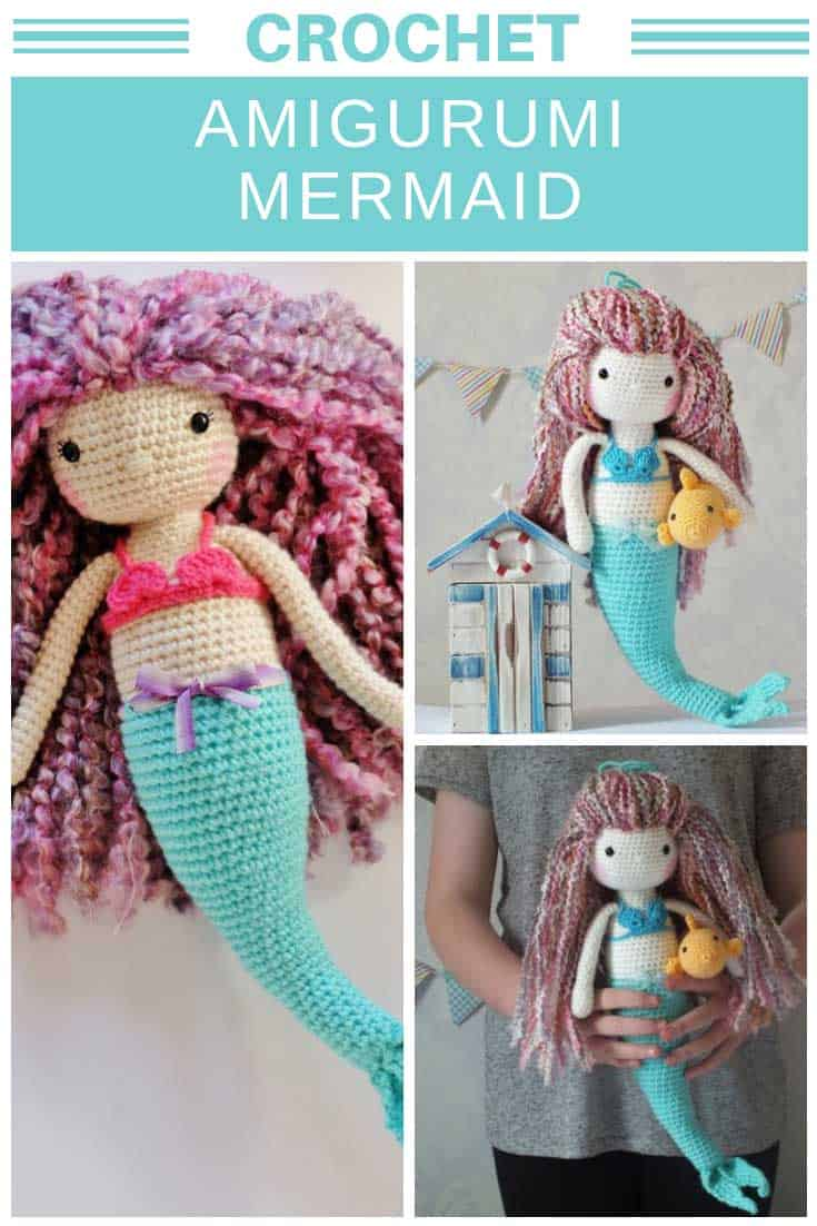 You have to see this amigurumi mermaid! The crochet pattern is super easy to follow!