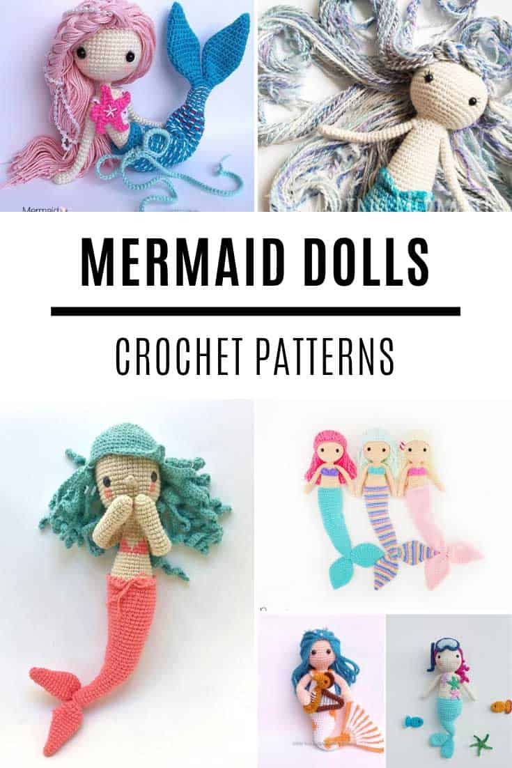 These amigurumi mermaid dolls are the SWEETEST!