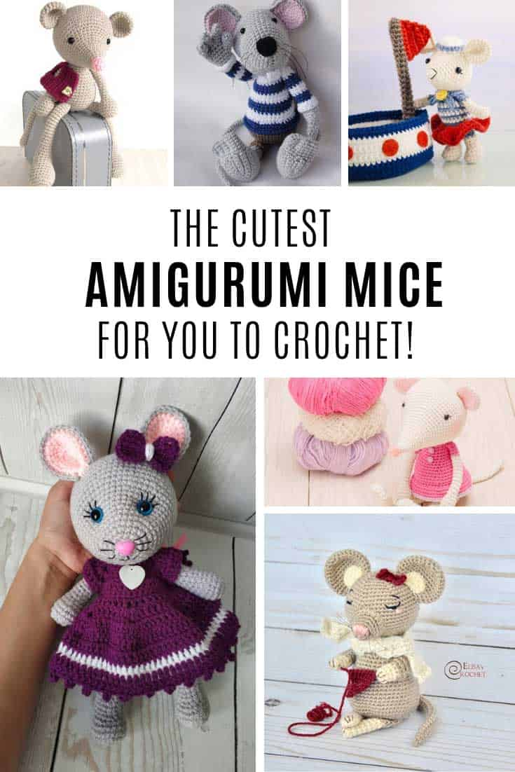These amigurumi mice patterns are just the CUTEST!