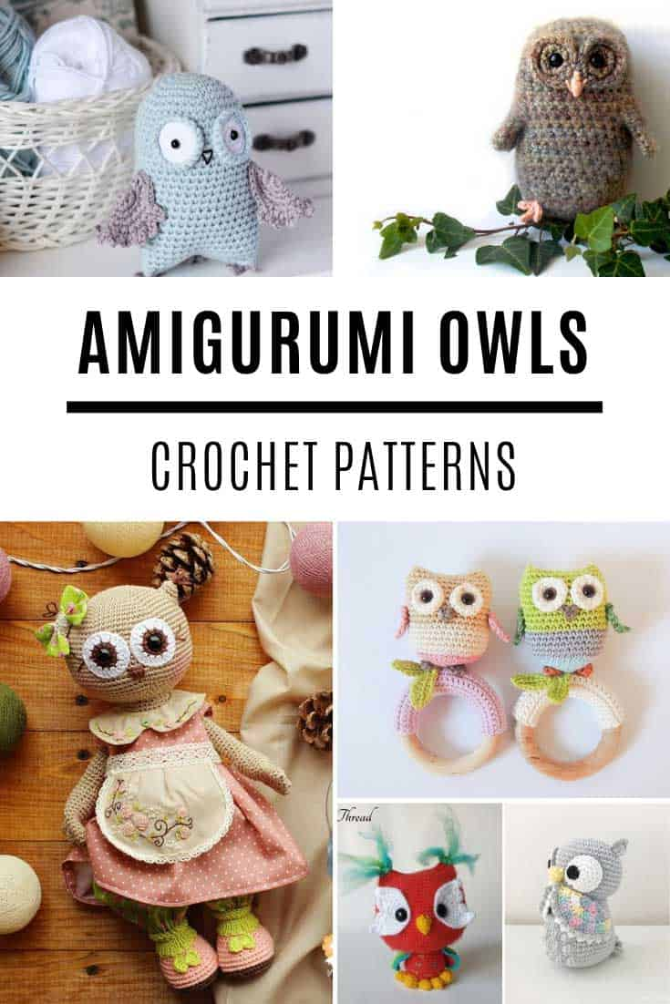 So CUTE! Loving these amigurumi owl crochet patterns! And you will too!