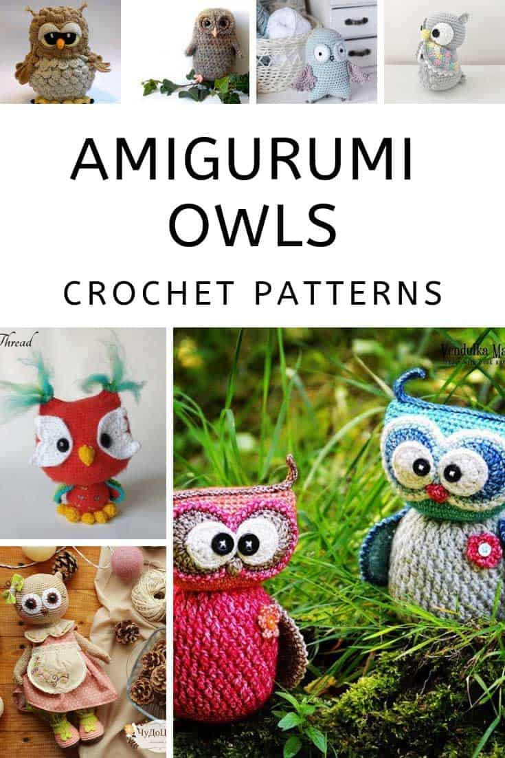 So many cute amigurumi owls crochet patterns!