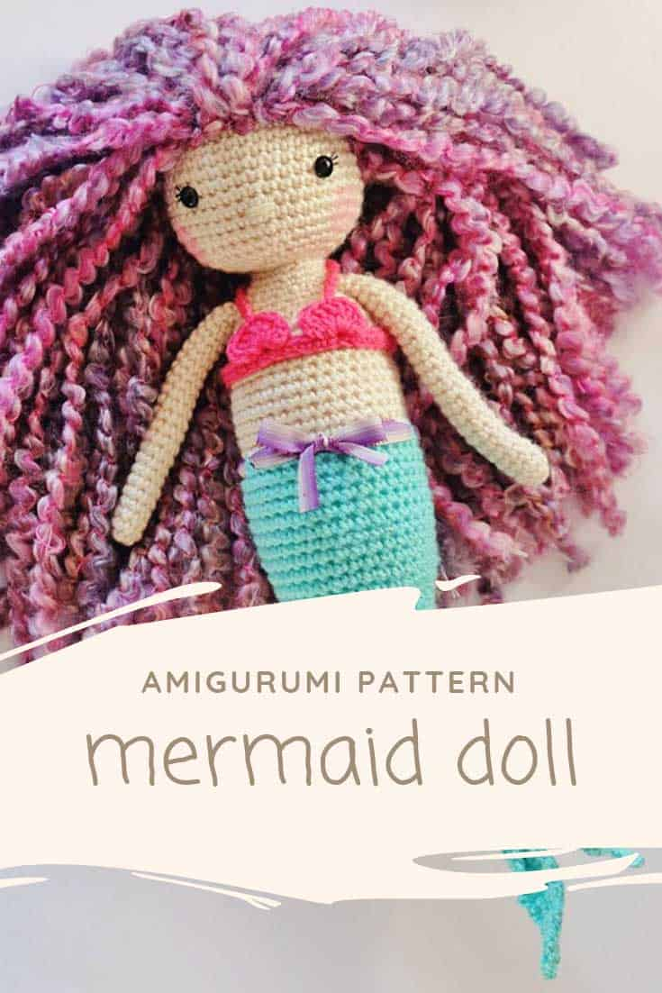 Crochet mermaid using this pattern: http://amigurumi.today/mermaid ... | 1102x735