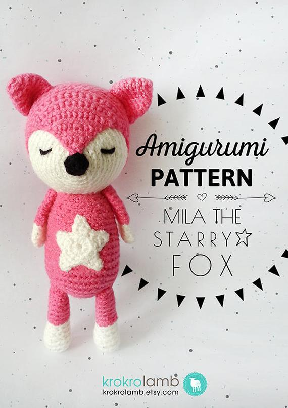 Amigurumi Pattern Mila the Starry Fox