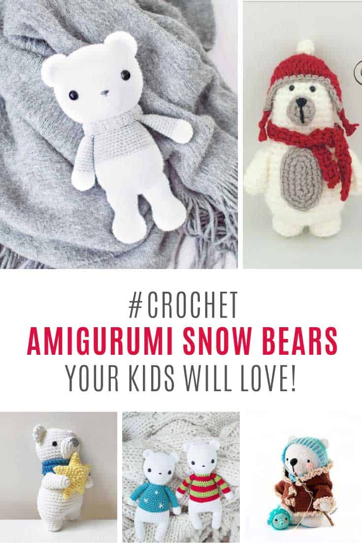 OMG these amigurumi polar bears are so sticking cute!