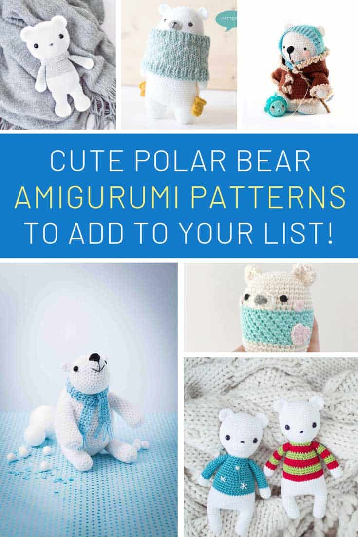 You totally need to add these snow bears to your crochet project list!