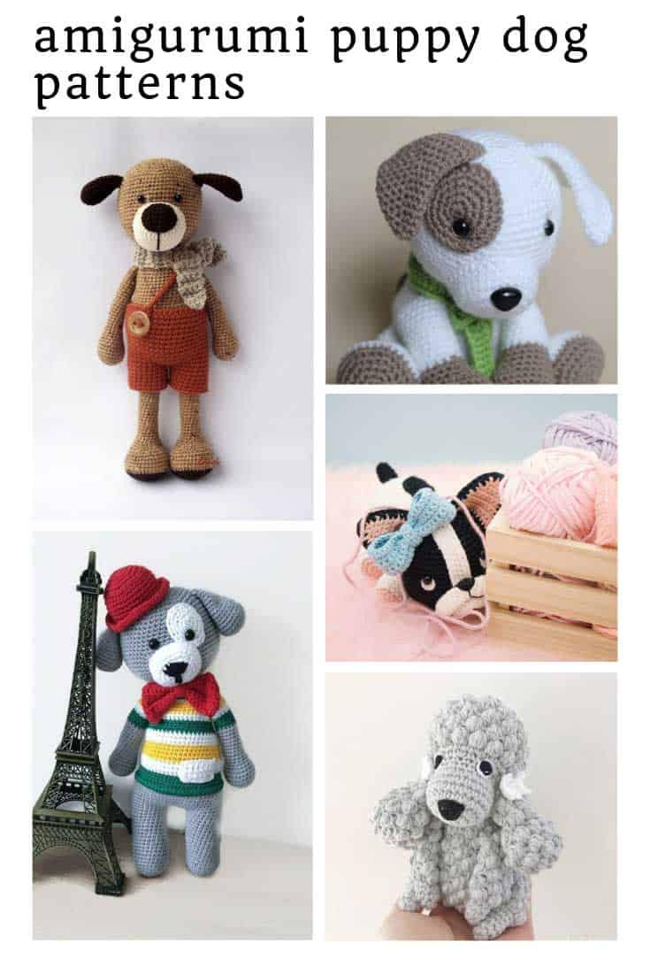 So many ADORABLE amigurumi puppy dogs for your kids to fall in love with!