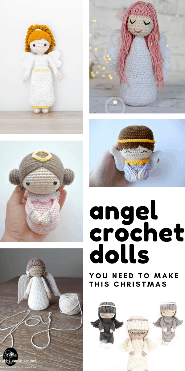 Loving these sweet angel crochet dolls. They'll make wonderful gifts this Christmas!