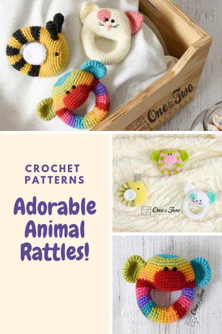 Oh how SWEET are these little animal baby rattles! Got to add these crochet patterns to my project list!