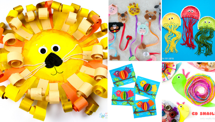Animal Crafts Ideas for Kids to Do At Home