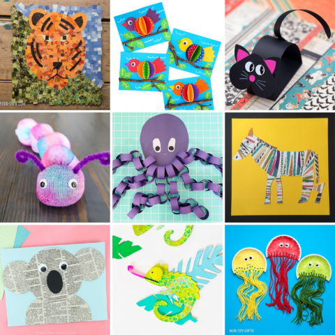 21 Easy Animal Crafts for Kids to Make At Home