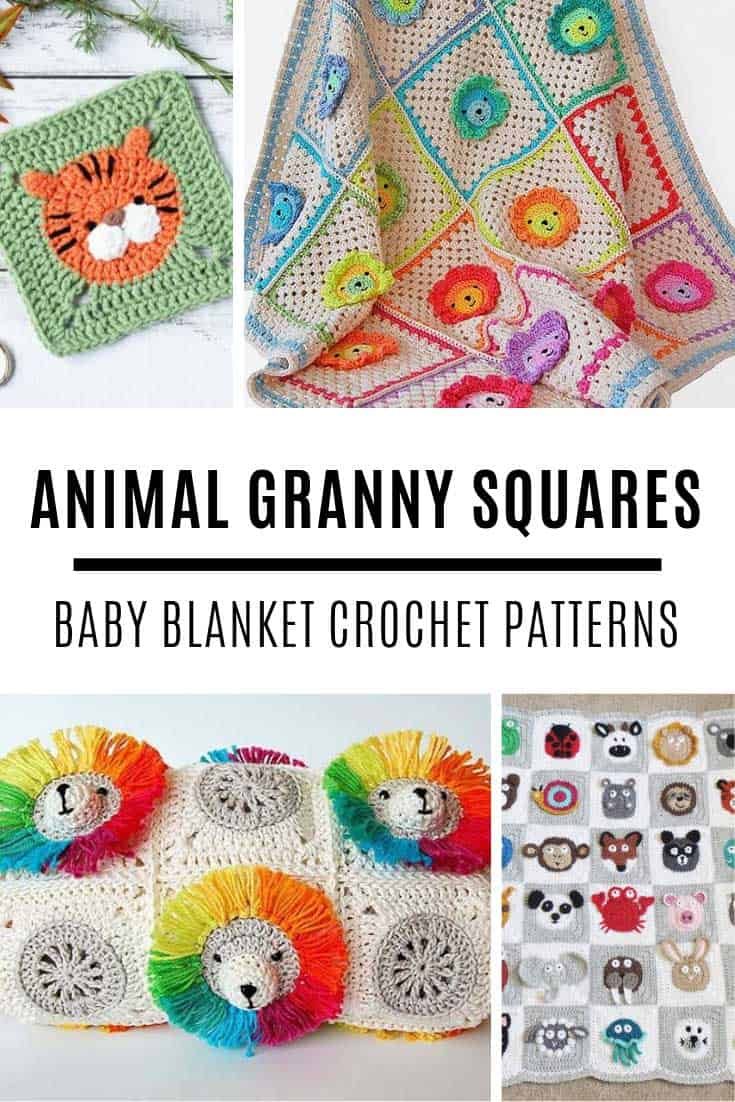Oh my these animal granny square baby blankets are so ADORABLE! Perfect for baby shower gifts too!