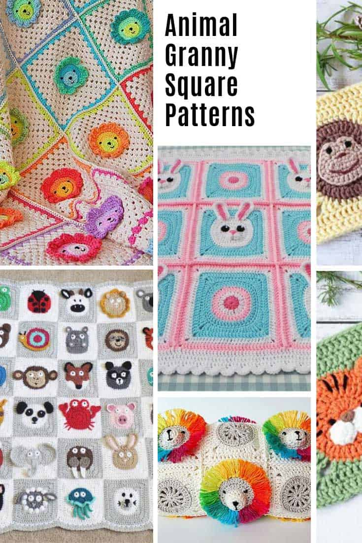 Loving these animal granny squares - they are so stinking CUTE!