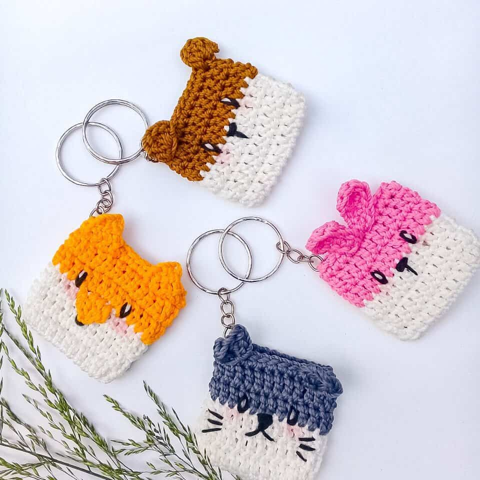 Animal mini purse crochet pattern