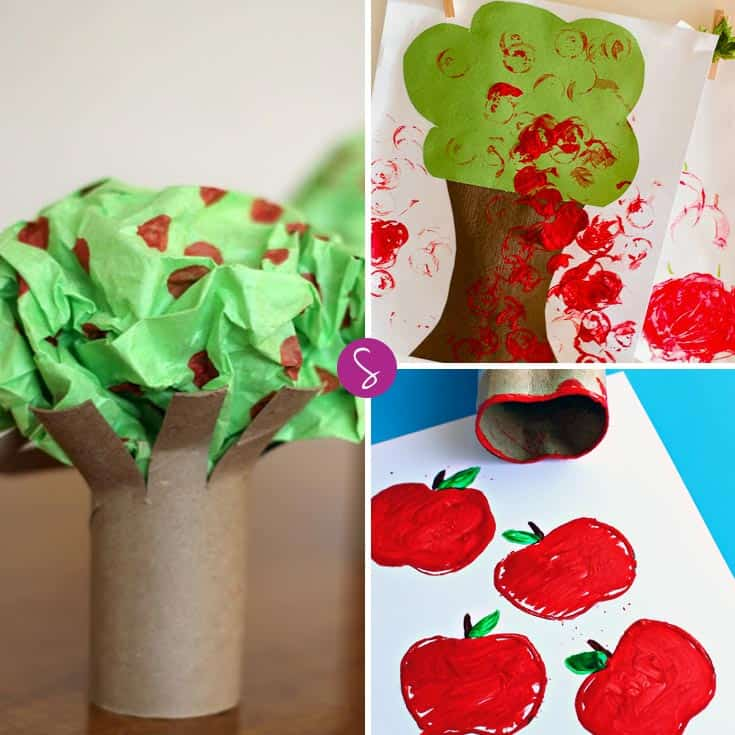 Have fun with apple stamping and other easy apple crafts for kids