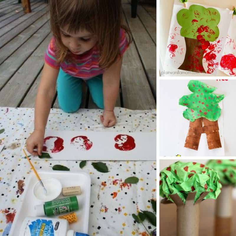 Loving this Apple Tot School unit plan - we're going to have so much fun with these crafts and activities!