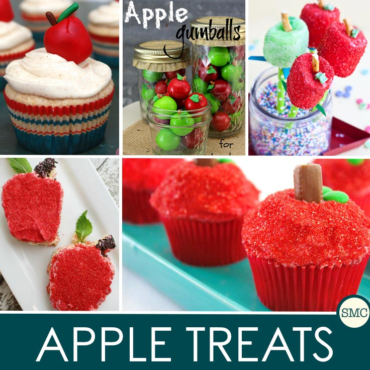 These apple treats would make the perfect gift for a teacher, or just to celebrate your child's first day of school