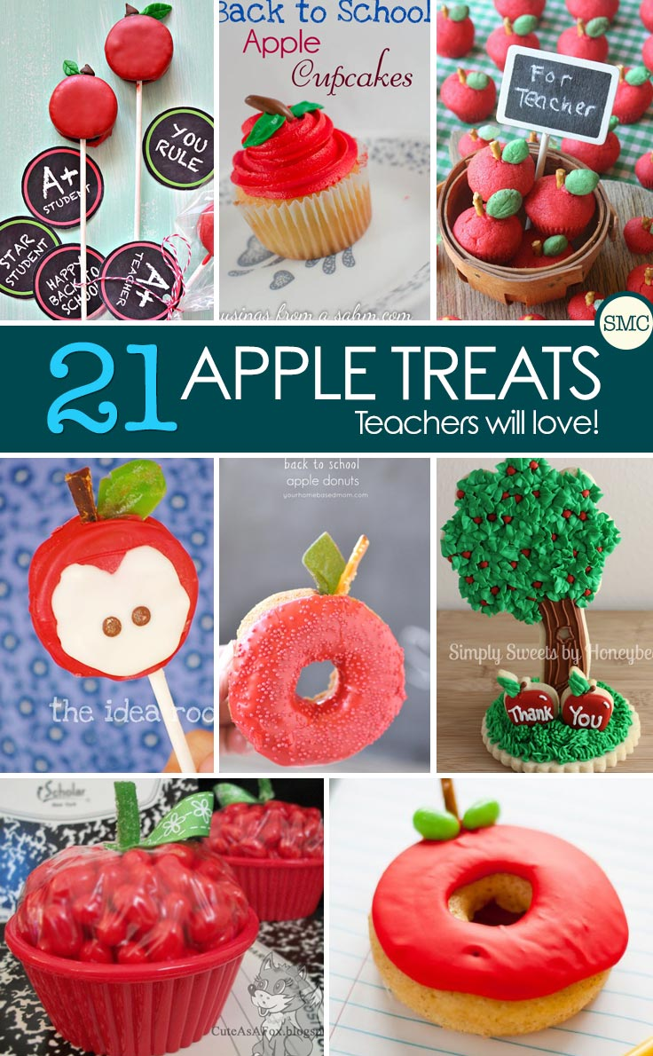 Oh these apple treats are so cute! I'm going to make for an after school snack! Click on the image to see them all...