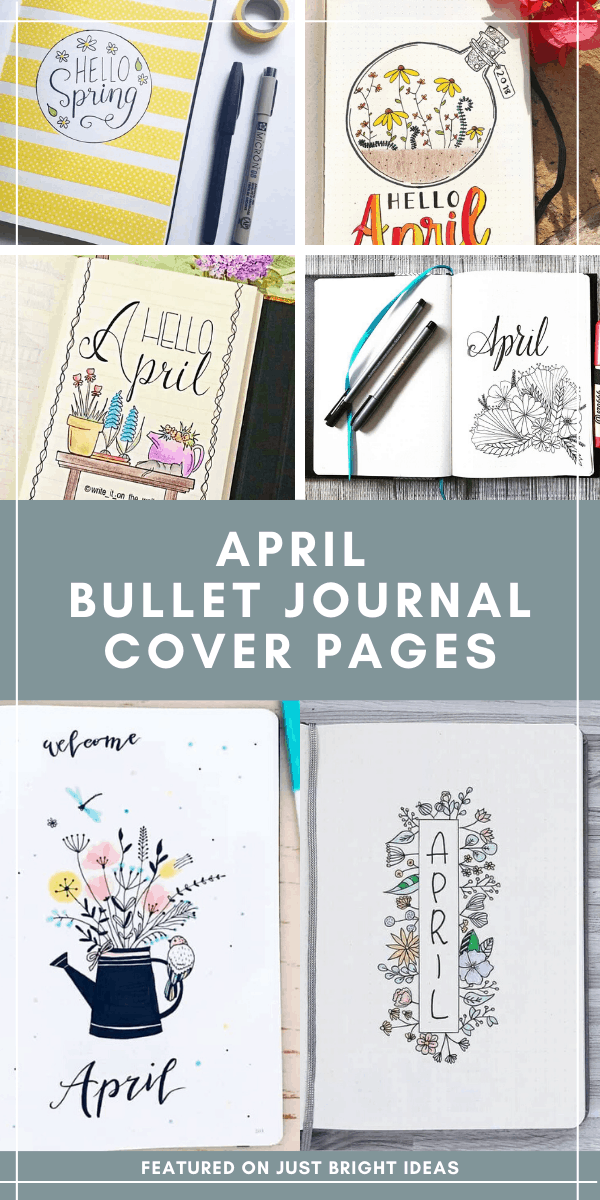 So many cute bullet journal april cover page ideas you'll want to copy!